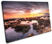 beautiful Shore Sunset Seascape - 13-0576(00B)-SG32-LO